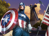 Avengers Assemble Artwork Featuring Captain America