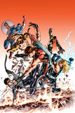 Ultimate Comics Ultimates 24 Cover: Hawkeye  Tigra  Quake  Thor  Captain America  Wonder Man