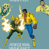 Marvel Knights Pattern Design Featuring: Luke Cage  Iron Fist