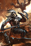 Chaos War: Ares No1 Cover: Ares Fighting