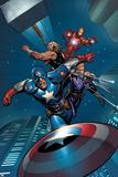 Avengers Assemble Artwork Featuring Captain America  Thor  Iron Man  Hawkeye