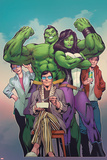 The Totally Awesome Hulk No 8 Cover Art Featuring: Maddy Cho  She-Hulk  Rick Jones and More