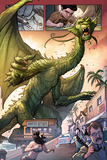Totally Awesome Hulk No3 Panel  Featuring Fin Fang Foom