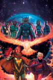 What If Avx 2 Cover: Nova  Vision  Thor  Ms Marvel  Summers  Hope  Magneto