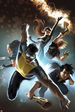 Fear Itself: The Home Front No6 Cover: Power Man  Amadeus Cho  X-23  Spider-Girl  & Thunderstrike