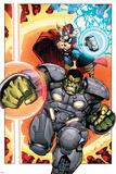 Indestructible Hulk 8 Cover Featuring Thor  Hulk