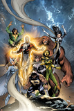 Alpha Flight No6 Cover: Puck  Snowbird  Northstar  Aurora  Guardian  Sasquatch  Shaman and Marina