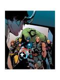 Avengers Assemble Artwork with Black Widow  Iron Man  Captain America  Thor  Hulk  Hawkeye  Loki