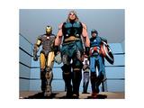 Avengers Assemble Artwork Featuring Iron Man  Thor  Captain America