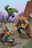 Squadron Supreme No 4 Cover Featuring Hulk  Hyperion  Thor