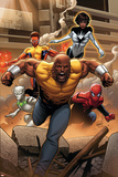 Mighty Avengers 1 Cover: Cage  Like  White Tiger  Spider-Man  Power Man  Spectrum