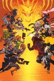 Uncanny X-Force 16 Cover: Bishop  Psylocke  Storm  Puck  Spiral  Cable  Summers  Hope  Dr Nemesis