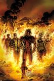 Chaos War: X-Men No1 Cover: Thunderbird and Banshee Walking in Flames