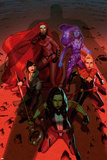 A-Force No 4 Cover Art Featuring: Medusa  Singularity  Nico Minoru  Captain Marvel  She-Hulk