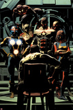 Invincible Iron Man No 10 Panel Featuring: Nova  Thor  Falcon Cap  Vision  Ms Marvel and More