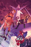 All-New Inhumans No 5 Cover Featuring Crystal  Naja  Flint  Grid  Spider-Man
