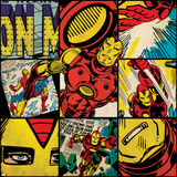 Marvel Comics Retro Badge Featuring Iron Man