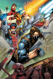 Thunderbolts No 1 Cover Art Featuring: Mach-X  Atlas  Moonstone  Fixer  Winter Soldier