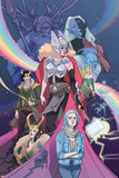 Mighty Thor No 8 Cover Art Featuring: Odin  Malekith  Thor (Female)  Loki  Laufey and More