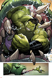 Totally Awesome Hulk No3 Panel  Featuring Totally Awesome Hulk and Fin Fang Foom