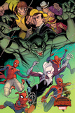 Marvel Secret Wars Cover  Featuring: Spider-Ham  Spider-Gwen  Spider-Man  Spider Woman