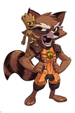 Guardians of the Galaxy Panel Featuring: Groot  Rocket Raccoon