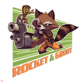 Guardians of the Galaxy Badge Art Featuring: Rocket Raccoon