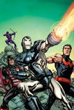 New Avengers No4 Cover  Featuring Hawkeye  US Agent  War Machine and Wonder Man