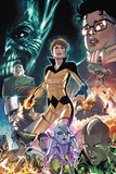 All-New Inhumans No 5 Cover Featuring Living Dream  Commissar  Crystal  Swain  Gorgon and More