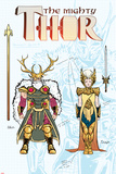 Mighty Thor No2 Cover  Featuring Odin and Frigga