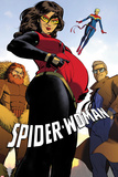 Spider-Woman No2 Cover  Featuring Porcupine  Spider Woman  Captain Marvel and Ben Ulrich