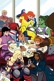 Patsy Walker  AKA Hellcat! No2 Cover  Featuring Captain Marvel  Ms Marvel and More