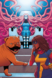 Ms Marvel No 9 Cover  Featuring: Medusa  Ms Marvel  Lockjaw
