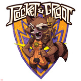 Guardians of the Galaxy Badge Art Featuring: Rocket Raccoon  Groot