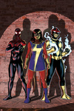 Ms Marvel No 7 Cover Art Featuring: Ultimate Spider-Man Morales  Ms Marvel (Kamala Khan)  Nova