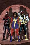 Ms Marvel No 7 Cover Art Featuring: Ultimate Spider-Man Morales  Ms Marvel (Kamala Khan)  Nova