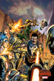 Marvel Secret Wars Cover  Featuring: Punisher  Iron Fist  Ultron