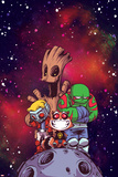 Guardians of the Galaxy Cover Art Featuring: Groot  Star-Lord  Rocket Raccoon  Drax
