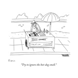 """""""Try to ignore the hot-dog smell"""" - New Yorker Cartoon"""