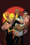 Marvel Knights Cover Art Featuring: Luke Cage  Iron Fist