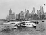 Dornier Do X Flying Boat in the Port of New York  1931
