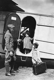 Two Children Next to a Plane of the Lufthansa  1928
