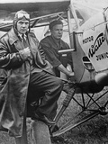 """Pilot and Crew Member Who Participate in the """"Challenge International De Tourisme""""  1932"""