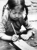 Chinese Girl Writing  1940