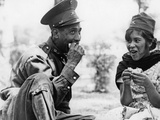 Mexican Soldier with Woman  1936