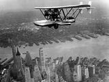 Amphibian Flying over New York City  1932