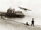 Airplane on the Beach of Nice  1914