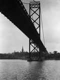 Ambassador Bridge in Detroit  1935