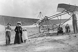 Bert Hinkler and His Family Next to an Aircraft  Ca 1920s