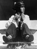 Young Man in a Sailplane in Germany  1933